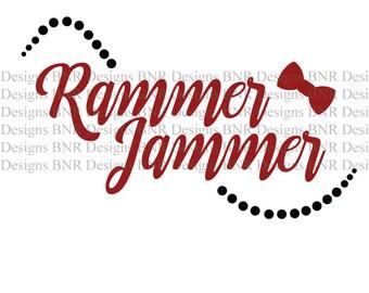 Rammer Jammer SVG, Alabama, Crimson Tide, SVG File, DXF File, Cricut File, Cameo File, Silhouette File