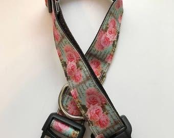 Pink Rose Dog Collar adjustable dog collar boy or girl dog collar dog accessories collar for dogs puppy dog collar pet collar rose dog