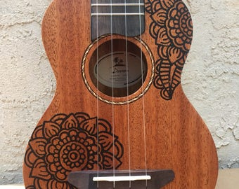 Painted Donner ukulele