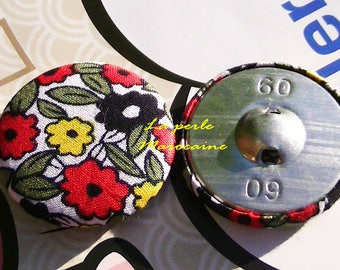 2 LARGE BUTTONS HAS SEWING SCRAPBOOKING EMBELISSMEMENT 40 MM CREATING JEWELRY