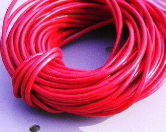 COLOR RED DIAMETER 2 MM JEWELRY MAKING WIRE 2M