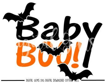 Baby Boo Halloween svg / dxf / eps / png files. Digital download. Compatible with Cricut and Silhouette machines.