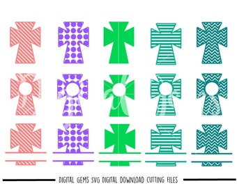 Cross svg / dxf / eps / png files. Digital download. Compatible with Cricut and Silhouette machines. Small commercial use ok.
