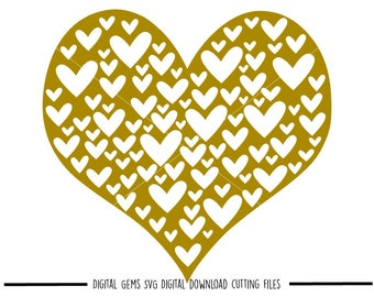 Love heart svg / dxf / eps / png files. Digital download. Compatible with Cricut and Silhouette machines. Small commercial use ok