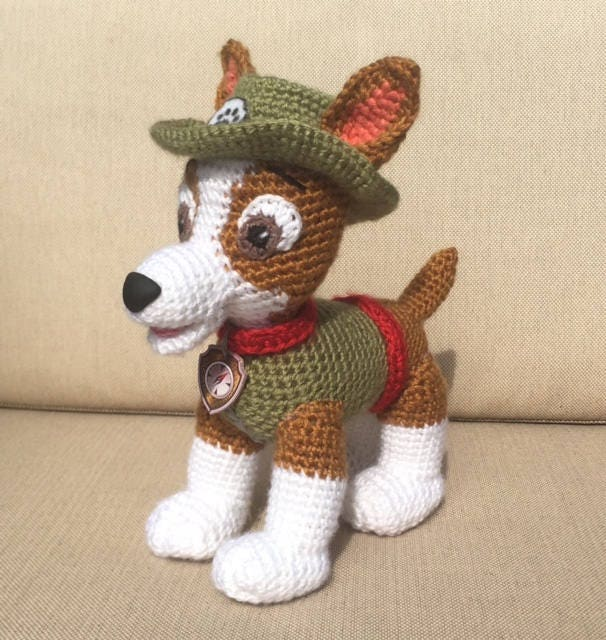 paw patrol crochet pattern  marshall  chase  skye  rubble  zuma  everest  tracker  and rocky