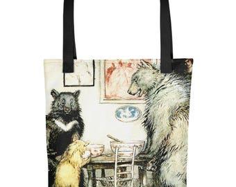 """Arthur Rackham Vintage Fairy Tale Tote bag  """"The Three Bears"""""""