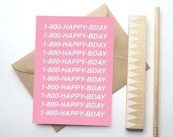 Drake Hotline-Bling Birthday Card: 1-800-Happy Birthday