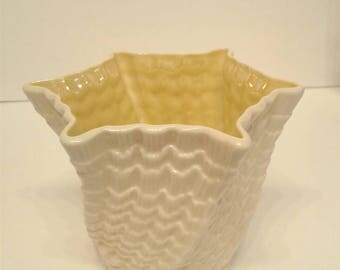 "Irish Belleek Vase ""Limpet"" Shape"