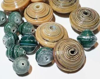 Fair Trade Paper Bead Mix 16