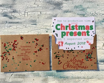 Christmas Pregnancy announcement card Christmas pregnancy reveal card for grandparents, husband, parents, grandma, grandpa, Merry Chrsitmas