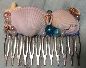 Seashell hair comb