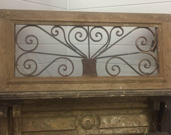 Toplight, from France.  Antique iron work and wood trim.  Springfield VA Pick Up