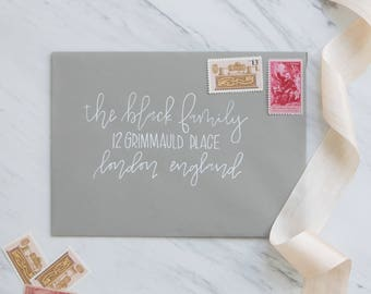 "Custom Envelope Addressing | Wedding Envelope Addressing | Wedding Calligraphy | Event Calligraphy | Envelope Calligraphy | ""Black"" Style"