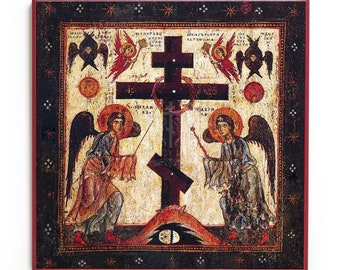 Adoration of the Cross Icon