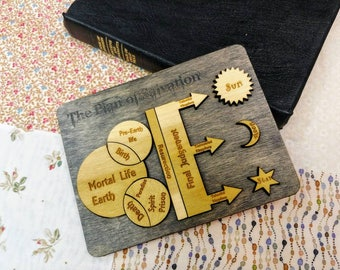 Plan of salvation puzzle, missionary gift, missionary, wood puzzle,puzzle, missionary mom
