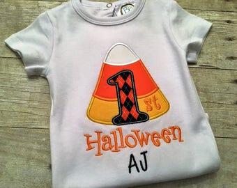 First Halloween shirt - First Halloween outfit boy - 1st halloween outfit - Halloween shirt - Candy corn shirt - Fall shirts for boys