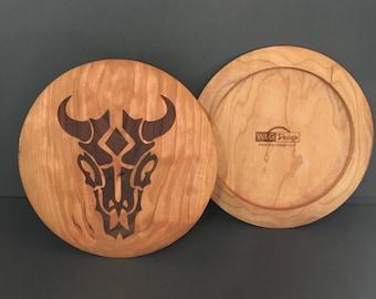 Cherry Wood - Disc Golf - Bull Skull