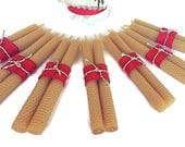 Handrolled Honeycomb Candles, Beeswax Taper Candles,  Beeswax Candles, Taper Candles, Natural Beeswax Candles, Hand Rolled Beeswax Candles,