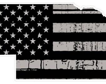 Nebraska State (N28) Distressed Flag Vinyl Decal Sticker Car/Truck Laptop/Netbook Window