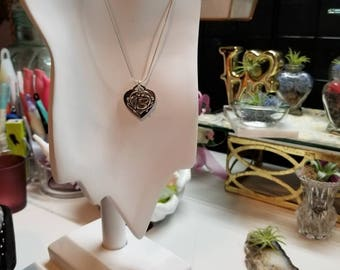 Sterling silver with heart charm