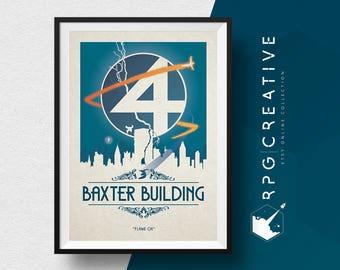 Fantastic 4 Origin Print : Baxter Building - MARVEL Studios