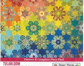 TULA'S BLOOMERS Pattern & Complete Piece Pack - Paper Pieces TULABLOOM