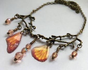 """Collier """"Fragments de fée"""" - branches et ailes de fée"""