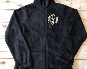 Adult Monogram Fleece Jacket - Monogram Coat - Fleece Zip up - Monogram Zip Up - Monogrammed Fleece - Lady jacket - woman - Monogrammed