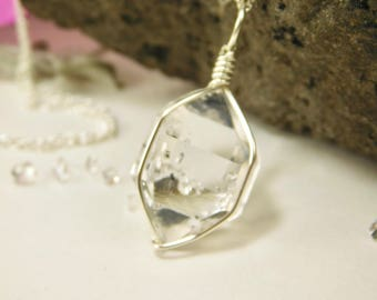 Jewelry Grade Genuine New York Herkimer Diamond Crystal Pendant- Herkimer Diamond Jewelry - Herkimer Jewelry - Herkimer Diamond Crystal