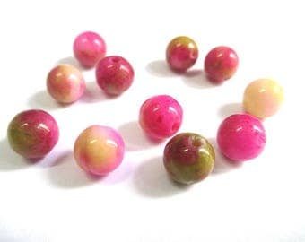10 pearls jade natural fuchsia 8mm (2)