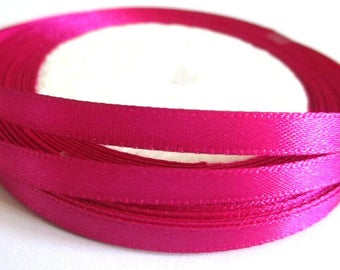 23 m reel 6mm fuchsia satin ribbon