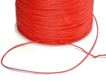 5 m wire red 0.5 mm polyester cord