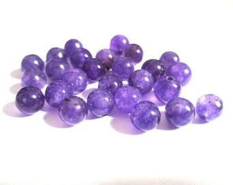 10 pearls purple 6mm natural jade (11)