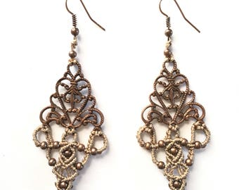 Macramé Pendant Earrings