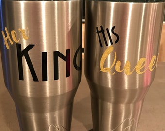 King & Queen insulated cup