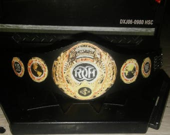 Honorable Ring World title vinyl belt
