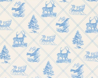 Winter Garden Cotton Fabric Toile Cotton Fabric Free Spirit BTY Part 37