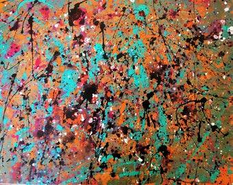 Drip art canvas