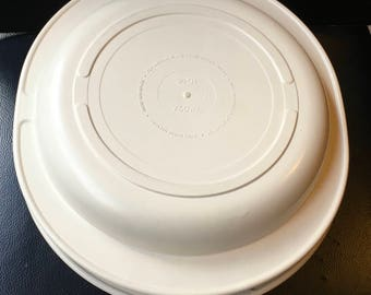 Vtg Tupperware Ultra 21 Ovenware Casserole  2 Qt 2 L  3/4 Qt 750 ml Lid Almond 1723  1725 Replacement Part