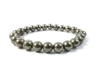 Father's Day SALE! Golden Pyrite Bracelet For Prosperity And Money Attraction Free shipping Healing Crystal