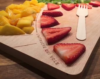 Cutting board wood - bird