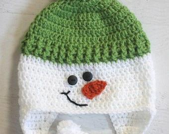 Snowman Hat / Crochet Snowman Hat / Crochet Hat