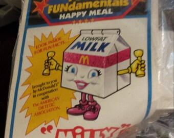 Vintage McDonald's Happy Meal Toys Milk Carton Character Milly 1992 Vintage Toys McDonald's Toys