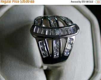 ON SALE Brilliant CZ Silver Ring