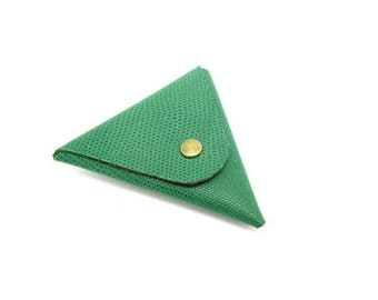 various leather triangle coin purse patterns - 10 cm