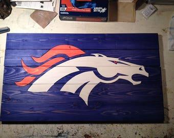 Hand Built Broncos Sign