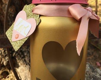 Valentine's Day Mason Jar-Valentine-Valentine's Day Gift-Mason Jars-Hearts-Valentines Day-Valentine for Teacher-Centerpiece