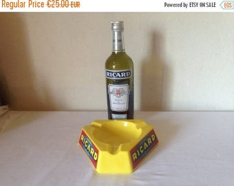 ON SALE Large China French Bistro Ashtray//Large Ricard Ashtray//Pastis Ashtray//French Bistro//French Cafe//French Bar Ashtray//Found And F