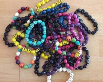 Howlite skull beads various