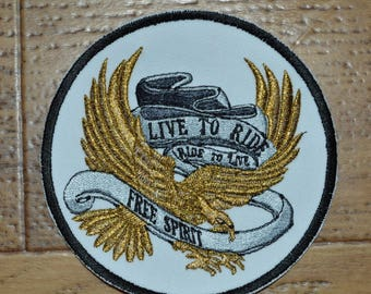 embroidered back live to ride 10cm